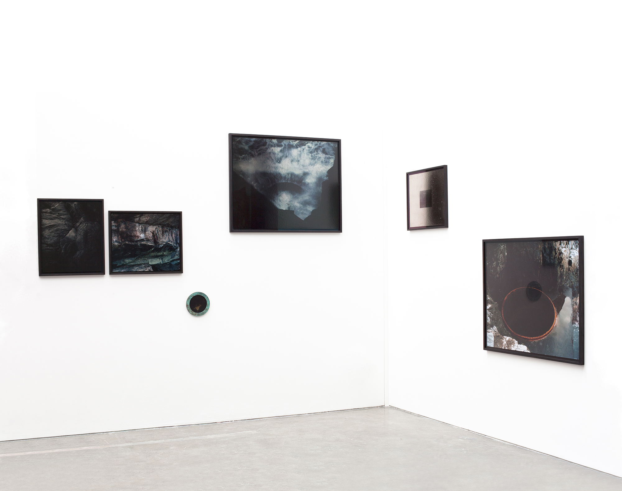Installation view of A black hole in the ocean. 2015